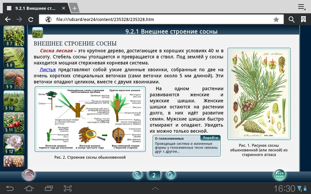 Электронный по биологии 7 класс учебник на планшет андроид